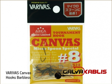 VARIVAS Canvas Hooks Barbless 8