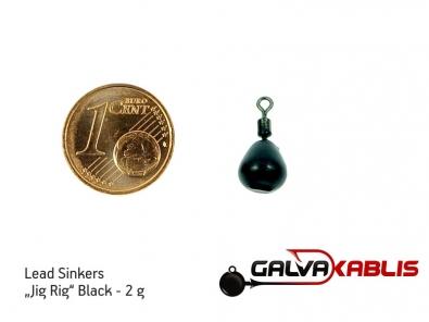 Lead Sinkers Jig Rig Black 2g