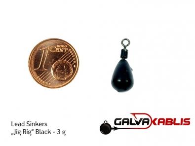 Lead Sinkers Jig Rig Black 3g