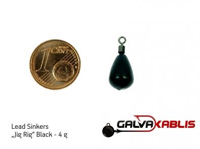 Lead Sinkers Jig Rig Black 4g